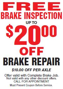 Brake Check Coupons >> Auto Repair Coupons Oil Change Coupon Ase Certified Free Brake